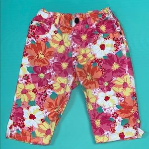 1989 place floral denim shorts